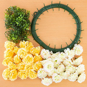 Craft Buddy Begonia Wreath Making Kit Purity (WHITE)