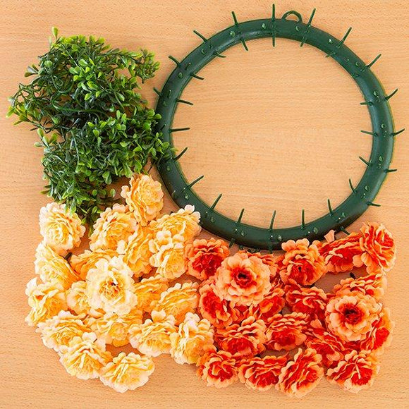 Craft Buddy Begonia Wreath Making Kit Positivity (ORANGE)