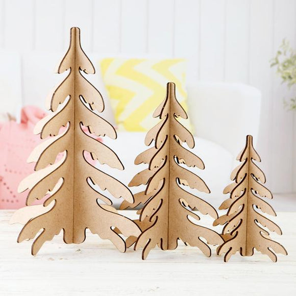 Pretty Gets Gritty Pretty Festive MDF Trees
