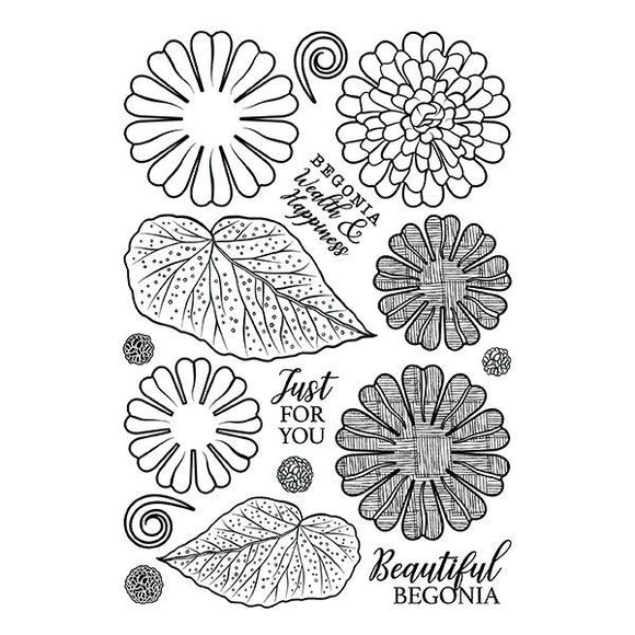 Forever Flowerz: Beautiful Begonias Stamp Set