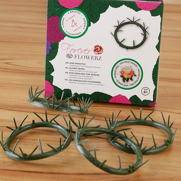 FOREVER FLOWERZ SET OF 4 SMALL WREATH BASES