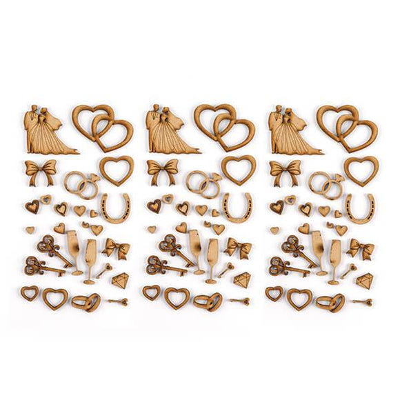 Set of 75 Laser Cut Celebratory Embellishments