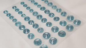 50pcs Self Adhesive Pointed Glitter Gems LIGHT BLUE (DBG05LB)