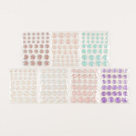 7 x Packs of Resin Snowflake & Flower Disc Gems