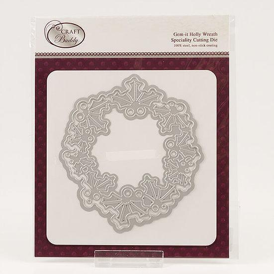 Gem It - Holly Wreath Die Set