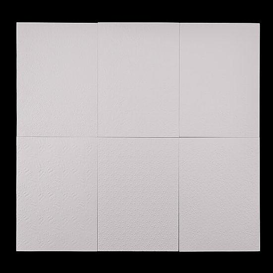90 Sheets Of 250GSM Embossed White Christmas Cardstock