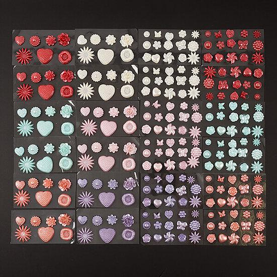 24 Packs of Pearl Embellishments in 22 Shapes