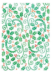 Holly Swirls Stencil (DBST16)