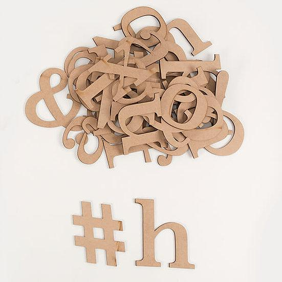 MDF Letters Kit Lowercase - 44 Pieces