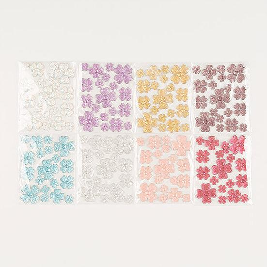 8 Packs Of Wildflower Resin Gems
