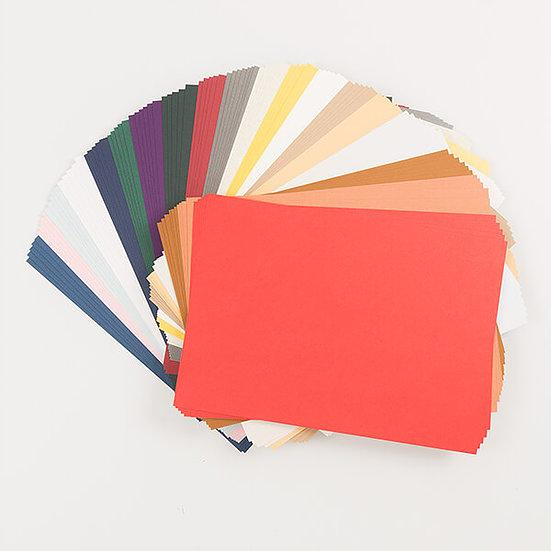 100 x A4 Sheets Of Assorted Coloured Cardstock (240gsm - 350gsm)