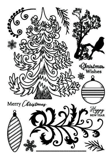 Christmas Forest A5 Clear Stamp Set