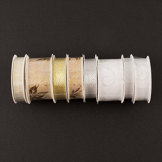 Wide Gold & Silver Ribbon Selection
