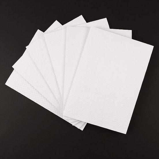 90 Sheets Of Embossed Cardstock - 250GSM