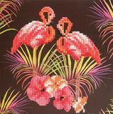 "CCK-A7. ""Flamingos"" Crystal Card Kit"