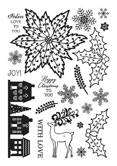 Classic Christmas A5 Clear Stamp Set