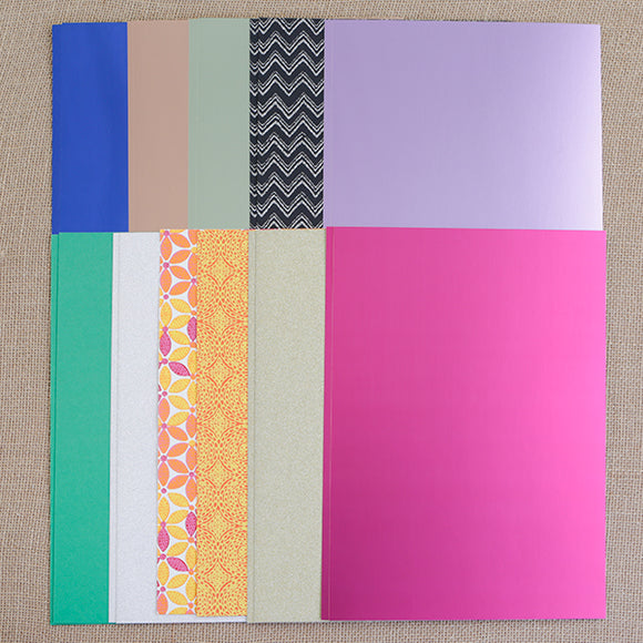 PP-MX20KT3: Craft Buddy Assorted A4 Mixed Card and Handmade Paper Pack of 20 130-270gsm