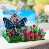 CA-SCKT2: Crystal Art Buildable 3D Scene Kit - Butterfly Bloom