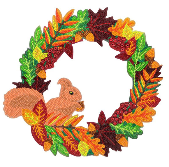 CA-WR4: Autumn 30cm Crystal Art Wreath