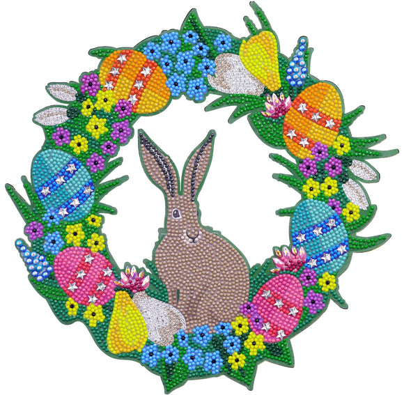 CA-WR6: Easter 2021 30cm Crystal Art Wreath