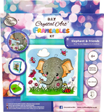 "CAFBL-3: ""Elephant"" Crystal Art Frameables Kit with Picture Frame"