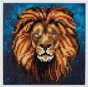 "CAK-2020H: ""Lion"" Framed Crystal Art Kit, 20x20cm (SMALL)"