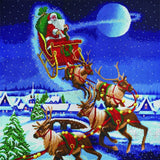 CAK-A112XL:  Santa's Journey, 70x70cm Crystal Art Kit