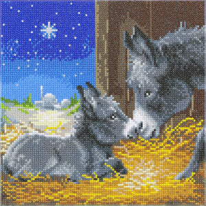 "CAK-A119M: ""Little Donkey"" 30x30cm Crystal Art Kit"