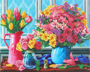 "CAK-A126L: ""Beautiful Blooms"" 40x50cm Crystal Art Kit"