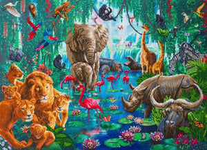 "CAK-A128XL: ""Jungle Gathering"" 90x65cm Crystal Art Kit"
