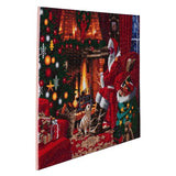 "CAK-A83: ""Santa by the Fire"" Framed Crystal Art Kit, 90 x 65cm (Giant Kit)"