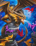 "CAK-AST13: ""Dragon Clan"""" 40x50cm Crystal Art Kit  ANNE STOKES"""