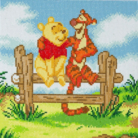 CAK-DNY702M: Pooh and Tigger, 30x30cm Crystal Art Kit