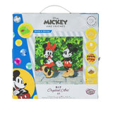 CAK-DNY703M: Minnie and Mickey, 30x30cm Crystal Art Kit
