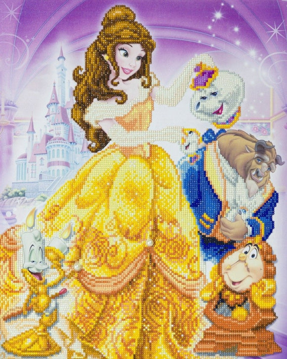 CAK-DNY705L: Beauty and the Beast Medley, 40x50cm Crystal Art Kit