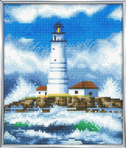 "CAM-10: ""The Lighthouse"" Crystal Art Picture Frame Kit, 21 x 25cm"