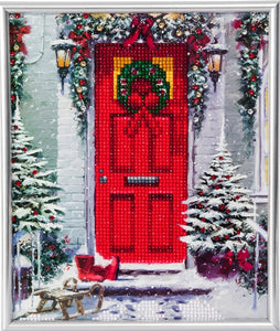 "CAM-20: ""Garland Door"" Crystal Art Picture Frame Kit, 21 x 25cm (Partial)"