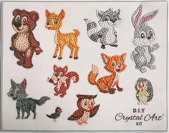 Forest Animals Sticker Set of 10 - CAMK-2020SET1