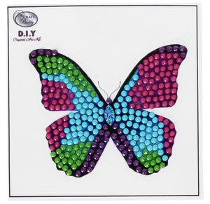 Disco Butterfly - Crystal Art Motifs (With Tools)