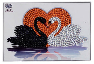 Kissing Swans - Crystal Art Motifs (With Tools) CAMK-37