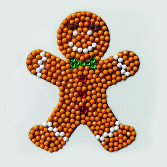 Gingerbread Man, 9x9xm Crystal Art Motif - CAMK-57