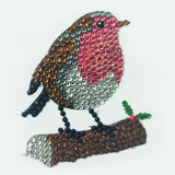 Winter Robin, 9x9xm Crystal Art Motif- CAMK-59
