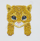 "CAMK-6:Cat Paws - ""Spring"" Crystal Art Motifs (With tools)"