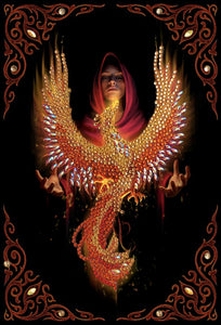 "CANJ-9: ""Pheonix Rising"""" 26x18cm Crystal Art Notebook  ANNE STOKES"""