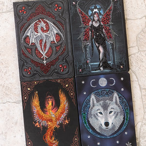 "CANJ-AW2020SET4: ""Set of 4 Anne Stokes  AW2020 Crystal Art Notebooks"