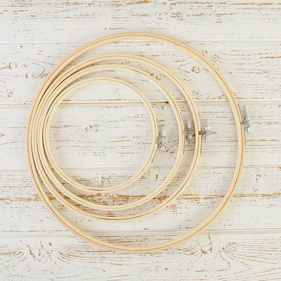 Craft Buddy Wooden Embroidery Hoops set of 4 - CB_EMBHP6