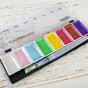 Craft Buddy Premium Watercolour Paint Sets with Water Brush - Gemstones - WC-GEM8
