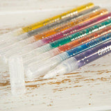 Set of 8 Metallic Glitter Gel Markers - GLI-MRK8