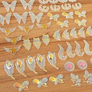 CB Resin Embellishment Set - Colour Me Crazy - CMC-50ASS