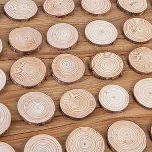 Craft Buddy Set of 30 6-7cm Wooden Slices - WD-30SL